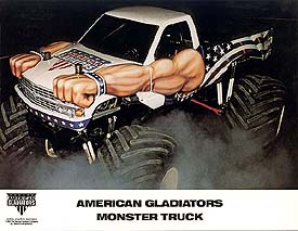 Samson 4x4 Monster truck American Gladiators racing photos