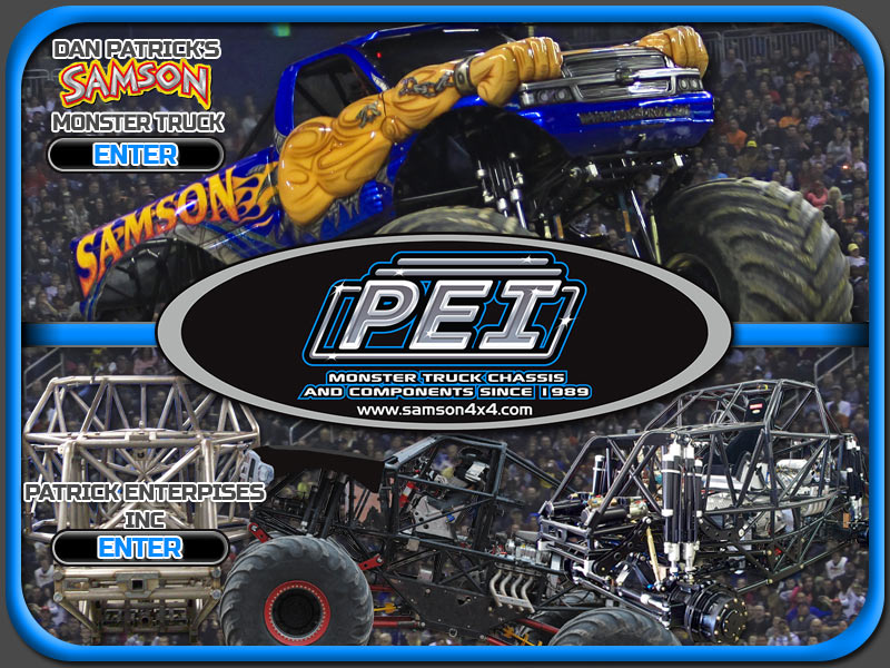 Samson Monster Truck Photos, Event Schedule, Merchandise, T-Shirts, Monstertruck Photographs, Chassis Development, Construction, Fabrication by Patrick Enterprises - Kids Activities, Monster Truck Coloring Books